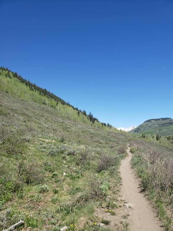 Trail on hike in CB