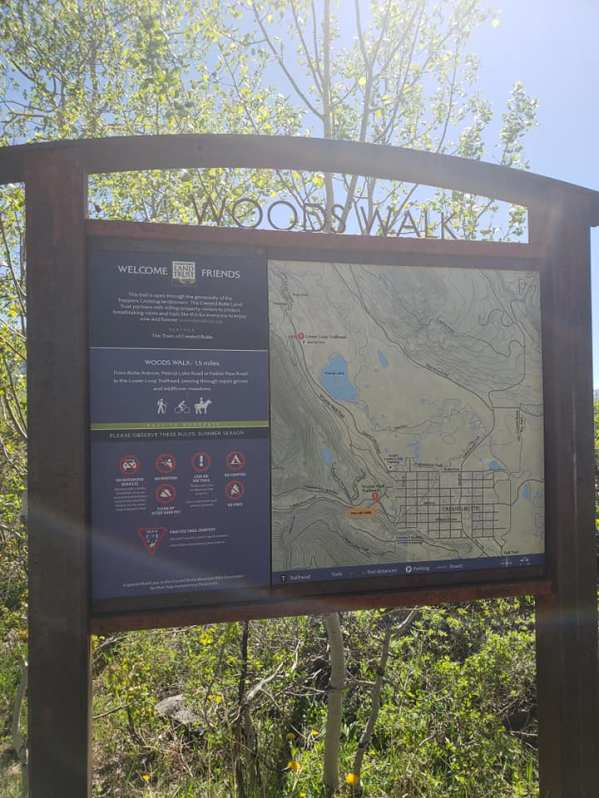 Woods Walk sign